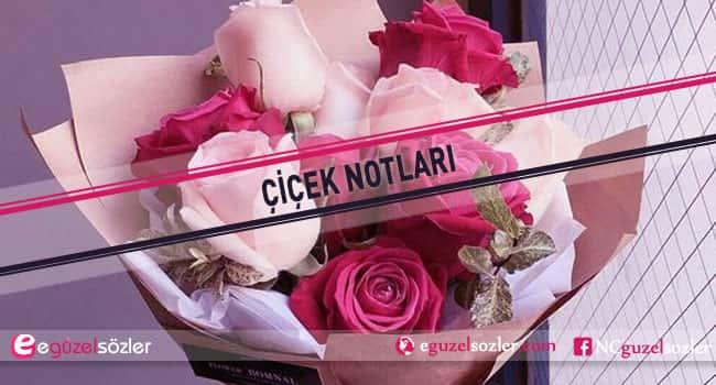 çiçek notları sevgiliye